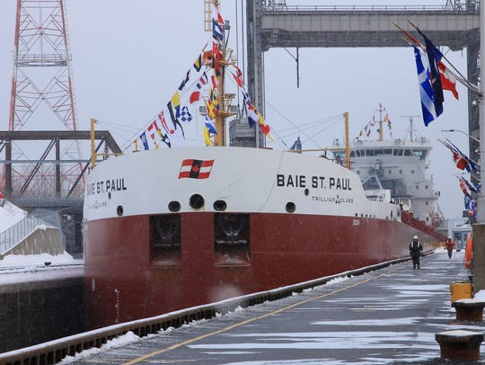 The Baie Ste. Paul opens the St. Lawrence Seaway in