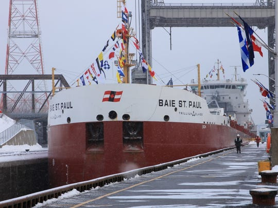 The Baie Ste. Paul opens the St. Lawrence Seaway in 2013.