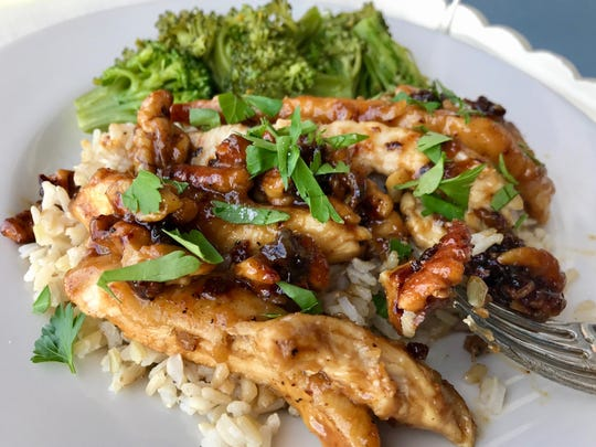 A butcher can turn fresh chicken breasts into quick-cooking cutlets for Sautéed Chicken Cutlets with Honey-Ginger Walnuts.