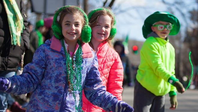 The 22nd Annual St. Patrick's Day Parade draws a big turnout with crowds full of energy despite freezing temperatures in Wappingers Falls, March 4, 2017