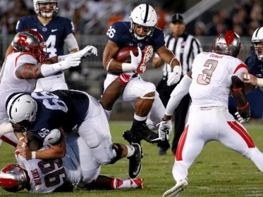 Saquon Barkley rushed for 1,496 yards and 18 touchdowns