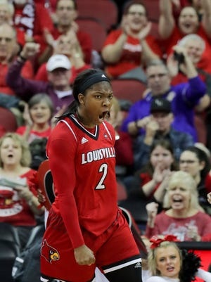 Louisville's Myisha Hines-Allen is the second player in program history to reach 1,000 career rebounds.