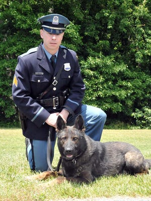 Vineland Police Sgt. William Bontcue and his K-9 Yoshi