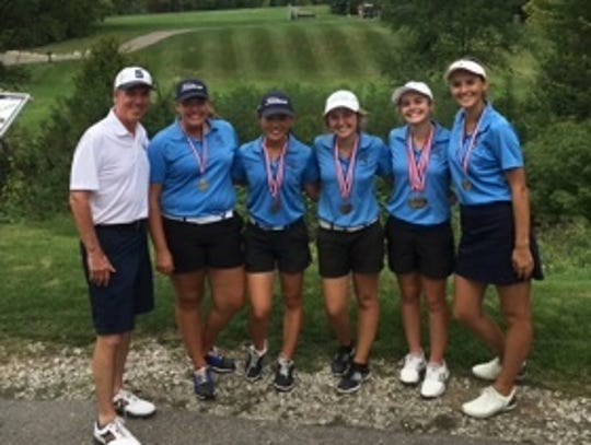 Stevenson's golf team won the Farmington Invitational