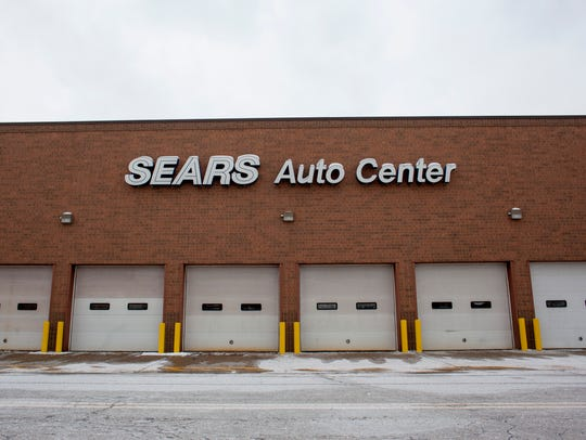 The Sears Auto Center pictured Wednesday, Jan. 13,
