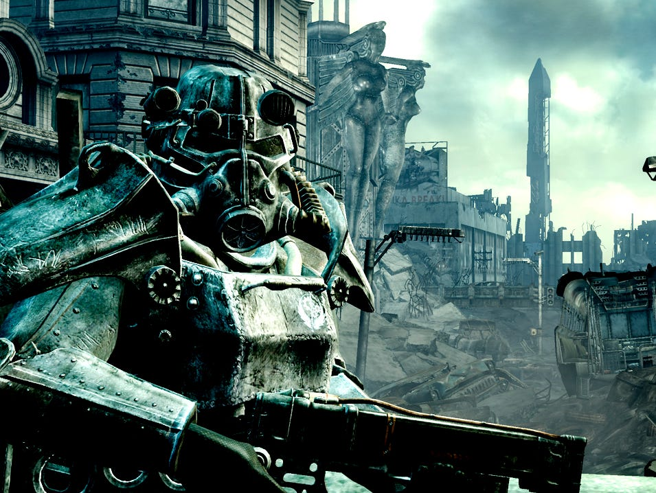 A scene from 2008's Fallout 3.
