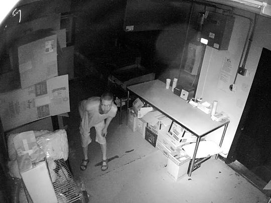 Colchester police released this photo from surveillance footage captured at Broadacres Creemee Stand to assist in identifying a man suspected in burglarizing the business.