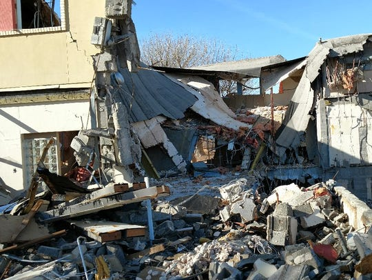The demolition of Monagle Hall, a $1.9 million project,
