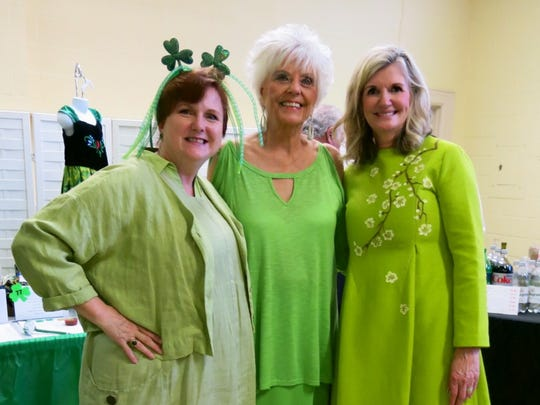 Wearing of the green at Finian's Rainbow: Anita White,