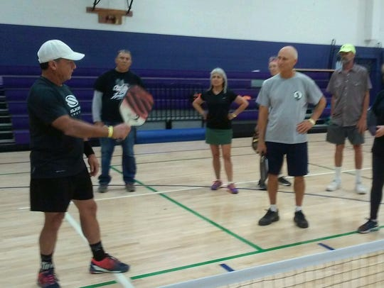 Randy Coleman, a professional pickleball player with