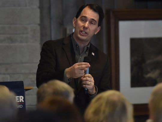 Gov. Scott Walker speaks at the Republican Party of