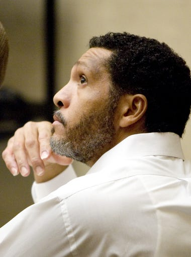 Mark Goudeau listens during his pretrial conference at the Maricopa County Superior Court.