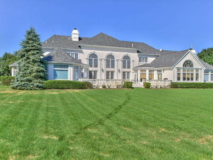 The mansion at 4 Laredo Drive, Colts Neck, sits on 4.62 pristine acres.