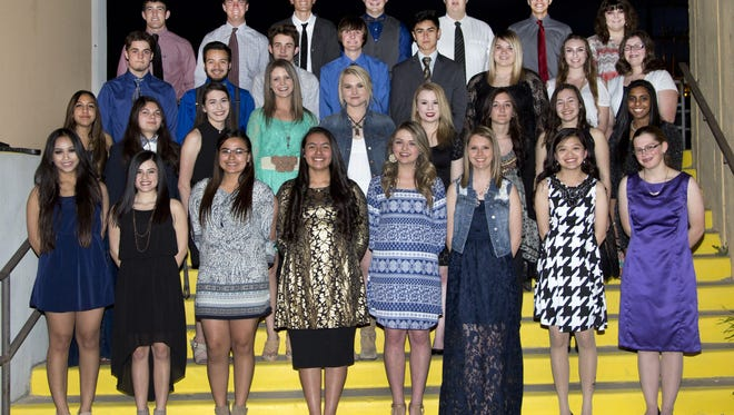 Thirty-six Carlsbad High School students were inducted into the National Honor Society.