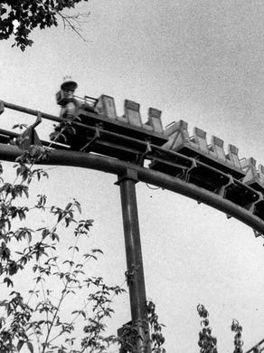 1977: The Runaway Mine Train Ride at Great Adventure.