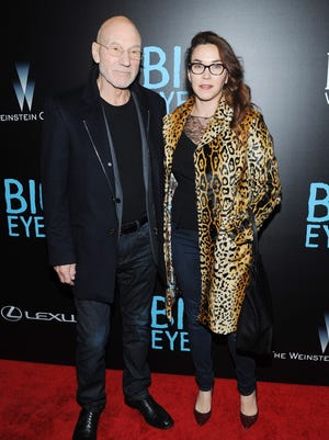 """Patrick Stewart and Sunny Ozell attends the """"Big Eyes"""" New York Premiere at Museum of Modern Art on December 15, 2014 in New York City."""