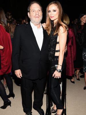 Harvey Weinstein and designer Georgina Chapman of Marchesa attend the CFDA/Vogue Fashion Fund Awards on Nov. 2, 2015 in New York.