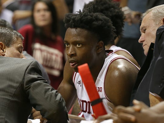 OG Anunoby missed IU's last three games after spraining his ankle against North Carolina.