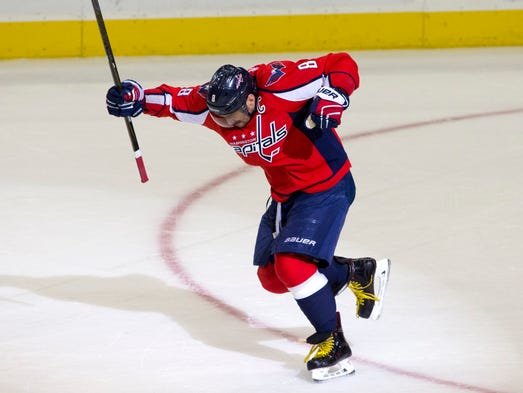 Jan. 10, 2016: Washington Capitals left wing Alex Ovechkin