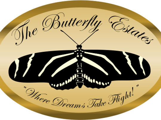 A sign for The Butterfly Estates