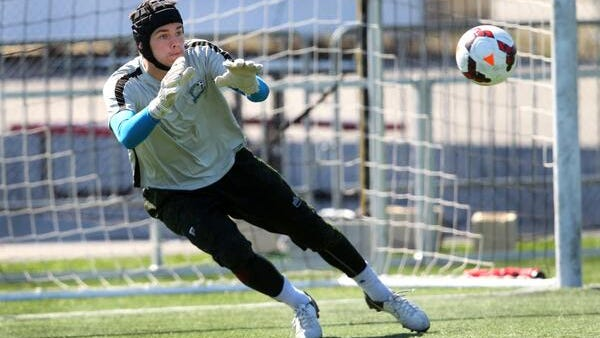 Rhinos rookie goalkeeper John McCarthy is expected to start Sunday's home opener against Charleston. He shut out Chicago, 2-0, in his pro debut on Monday.