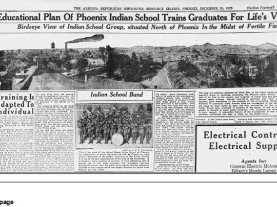 A copy of Dec. 30, 1923, edition of The Arizona Republic,