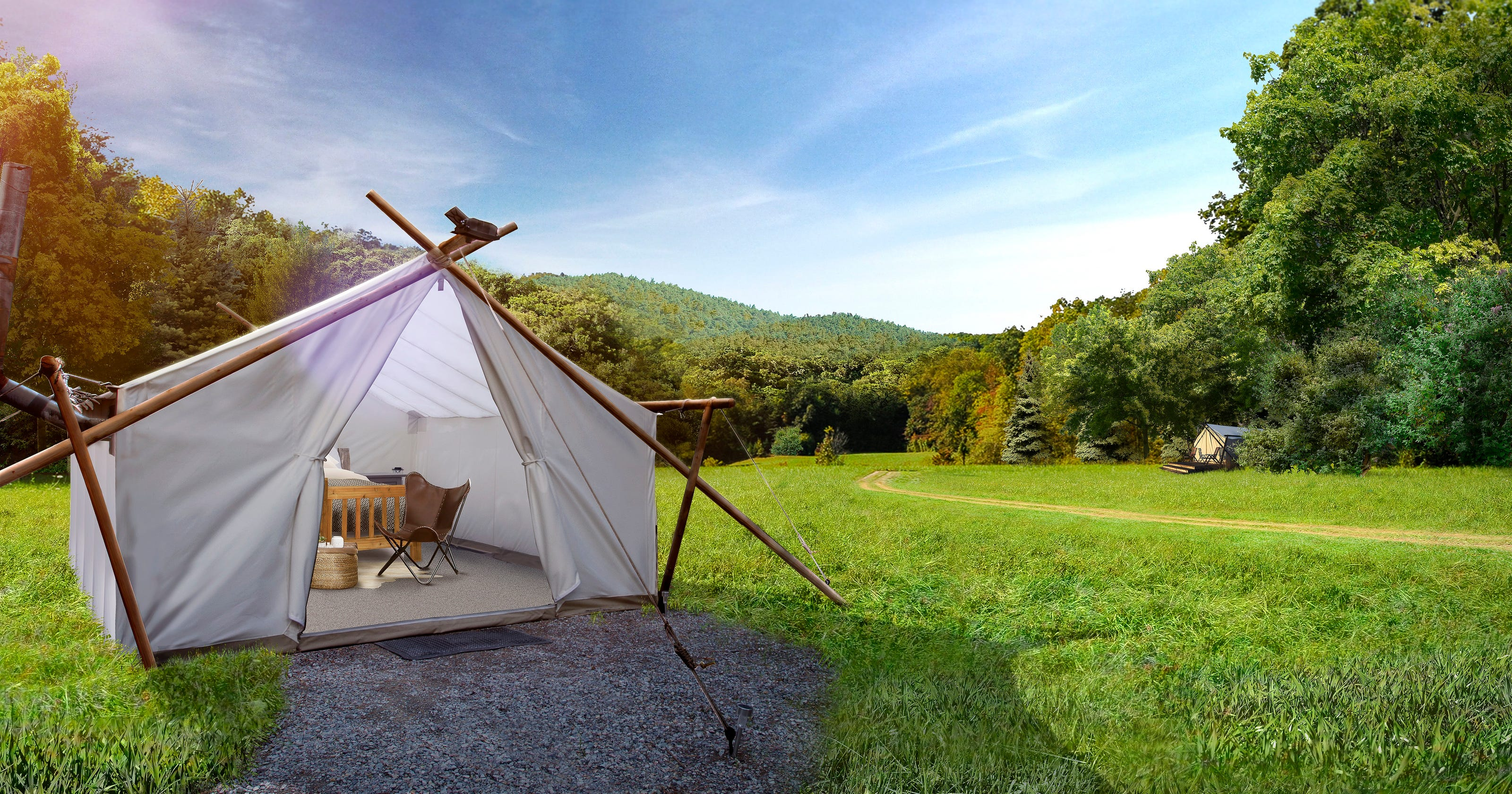 separation shoes 97603 1fbbf Glamping in Tennessee: Gatlinburg Under Canvas luxury tents