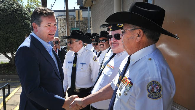 United States Senator, Ted Cruz, met with members of the Disabled American Veterans before speaking to a crowd of veterans recently in Wichita Falls.