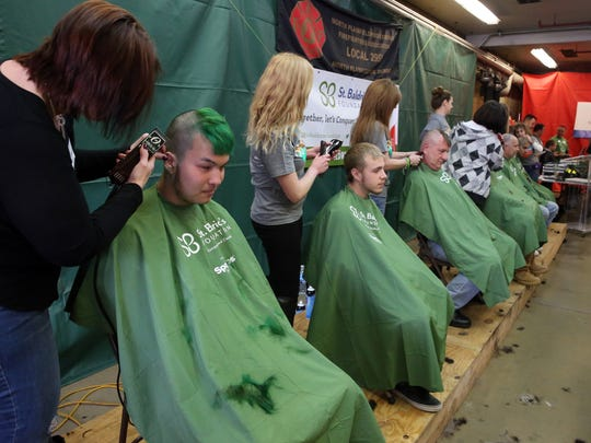 13th annual St. Baldrick's Day was held on Saturday March 19, 2016  at the North Plainfield Firehouse, 8 Lincoln Place, North Plainfield, NJ, when more than 100 people will have their heads shaved to raise funds and awareness about pediatric cancers