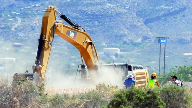 """Crews begin digging at the old Alamogordo, N.M., landfill on Friday April 25, 2014, to search for copies of the Atari game """"E.T. The Extraterrestrial"""" purportedly buried there in the 1980s."""