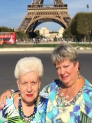 Mother, daughter trip Tammy Wilder and her mom Marianne Vanover of St. Petersburg, Florida, (formerly of Evansville)  stopped by the Eiffel Tower for a photo while enjoying a recent mother, daughter trip to Paris.