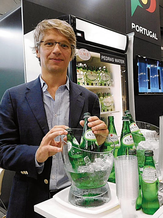 Bruno Albuquerque represented Pedras Water company of Portugal. The naturally carbonated mineral water comes from the springs of Pedras Salgadas in the northeast part of the country.