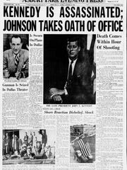 """The front page of an """"extra edition"""" of the Asbury Park Press from the morning of Nov. 23, 1963, one day after President John F. Kennedy was assassinated in Dallas."""