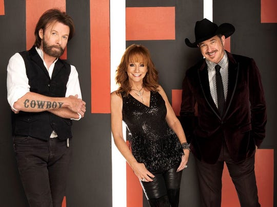 Ronnie Dunn, Reba McEntire and Kix Brooks are having