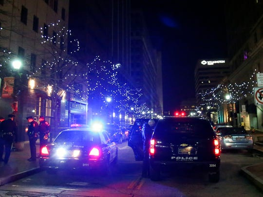 Wilmington police investigate the scene of a stabbing in 900 block of Market St. Wednesday.