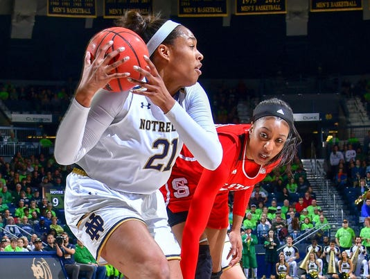 NCAA Womens Basketball: NC State at Notre Dame