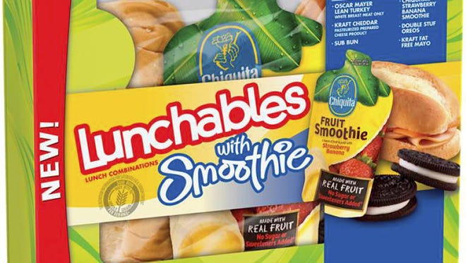 Lunchables, distributed by Oscar Mayer and made by Kraft Heinz, have been on the market nationally since 1989. This packaging is from 2012.