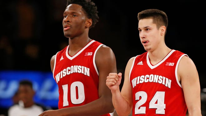 Nigel Hayes and Bronson Koenig will need to play big for the Badgers in the NCAA Tournament.