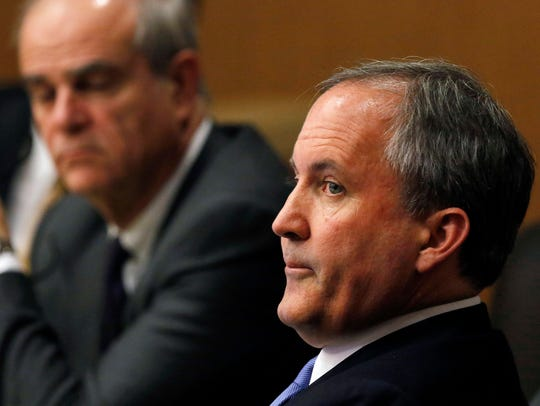During a meeting with President Donald Trump, Texas Attorney General Ken Paxton said the fence in El Paso proves that a border wall will work.