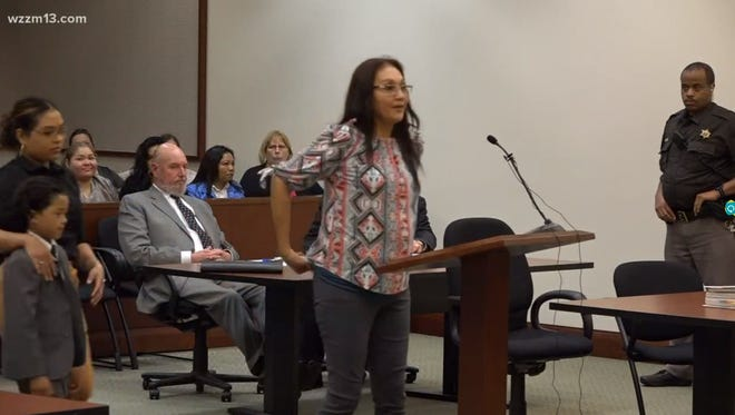 Sylvia Villarreal gave a victim impact statement in court.