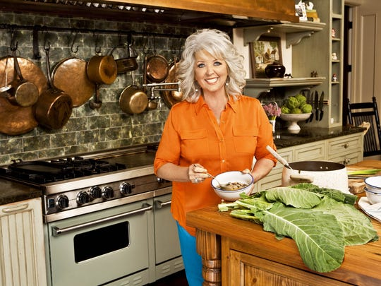 Paula Deen on the set of her cooking show in 2013.