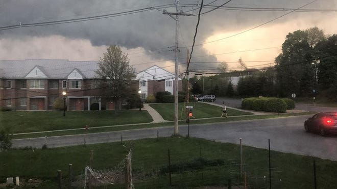 A microburst was seen touching down in Ulster County from a residence in Poughkeepsie on Friday, May 15 near 7:30 p.m.