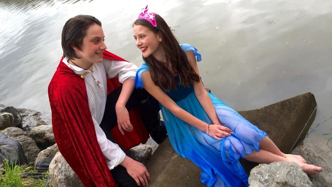 """Jasper Fearon is Prince Eric and Sierra Stallmann plays Ariel in the Running to Places production of """"The Little Mermaid."""""""