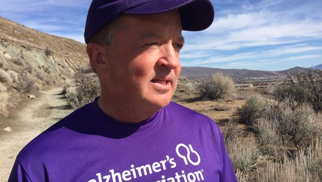 Mark Struble of Carson City is preparing to run the Boston Marathon in April on the Alzheimer's Association team.