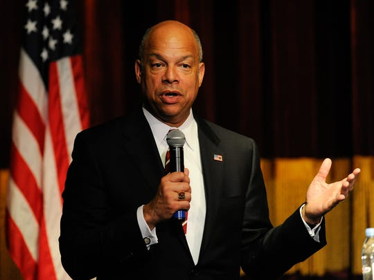 Secretary of Homeland Security Jeh Johnson speaks Wednesday