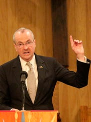 Gov. Phil Murphy speaks at the seventh annual Standing