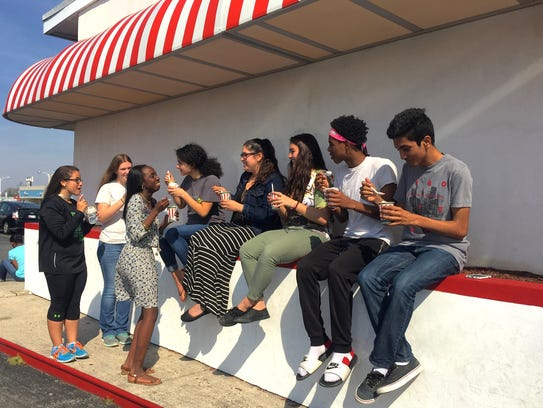 Parkside and Bennett High School students enjoy the