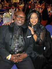 Theron  and Rhonda Jackson at Krewe Sobek Grand Ball.