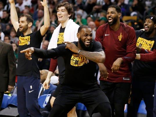 2018-02-11 LeBron bench