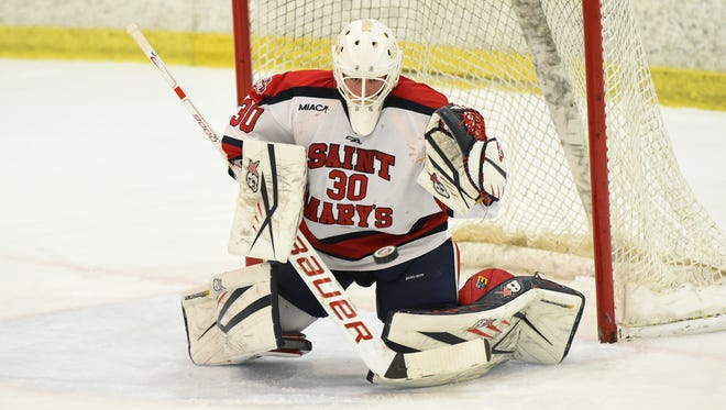 Dallastown graduate Phil Heinle is the No. 1 goalkeeper for the Saint Mary's (Minnesota) hockey team. The senior is joined on the team by his twin brother Jay, a junior.